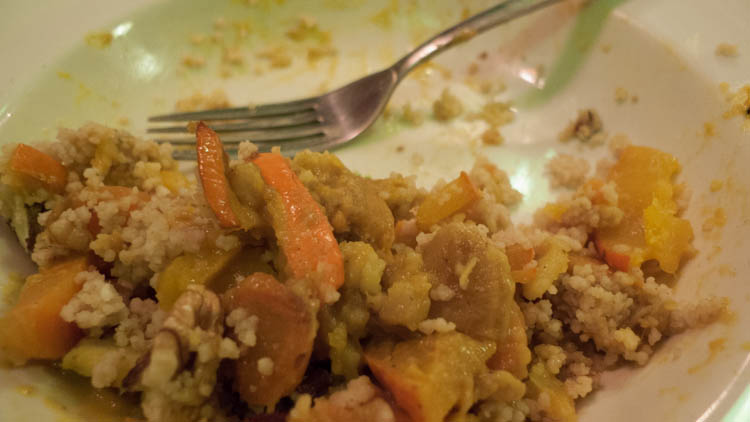 end couscous pumpkin